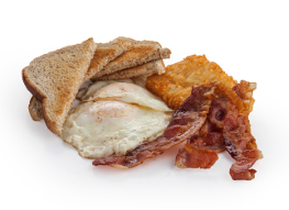 Bacon Eggs and Hash browns Convenience Store